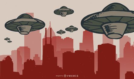 Vetor de invasores do espaço