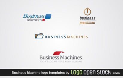 Modelo de logotipo de máquinas de negócios