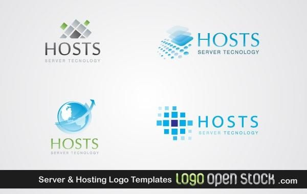 Server & Hosting Logo Templates