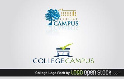 Paquete de logotipos del campus universitario