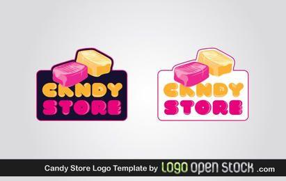 Modelo de logotipo de loja de doces