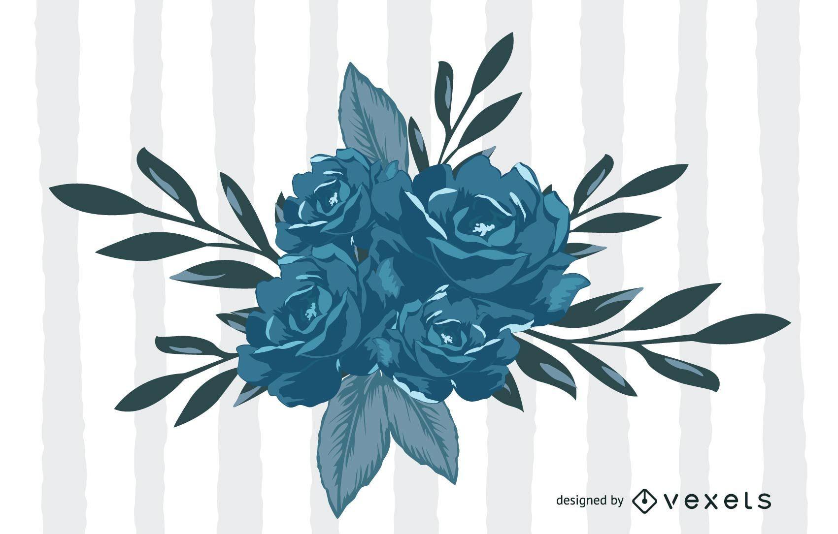 Vector De Flores Azules Descargar Vector