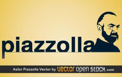 Ilustração em vetor Astor Piazzolla