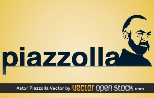 Ilustraci?n de vector de Astor Piazzolla