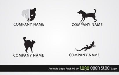 Pacote de logotipo animal
