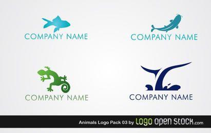 Pacote de logotipo Animal marinho répteis