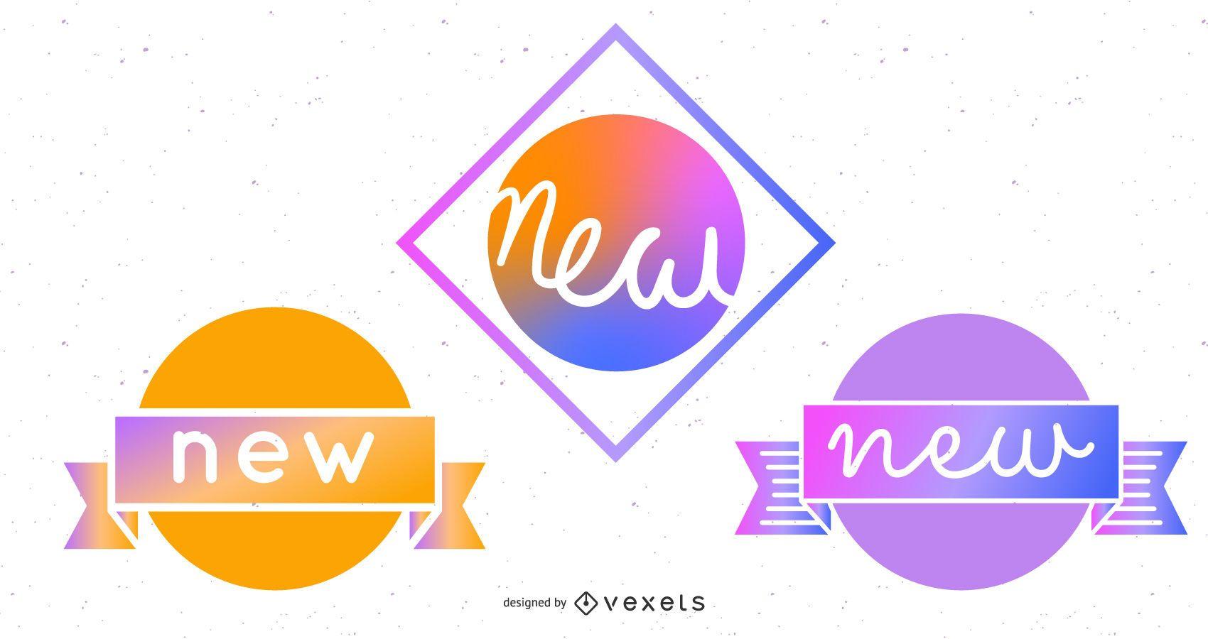 Nuevas pegatinas de insignias - Elemento web