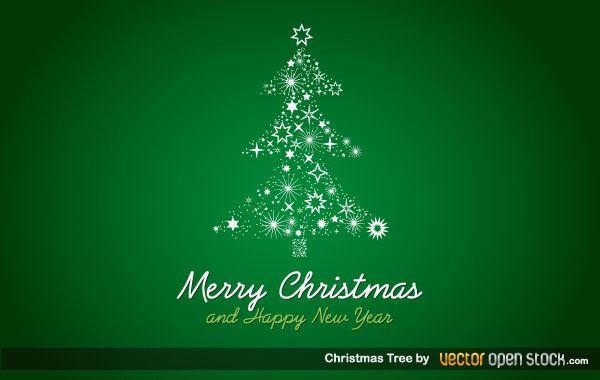 Fondo de árbol de Navidad estrellado