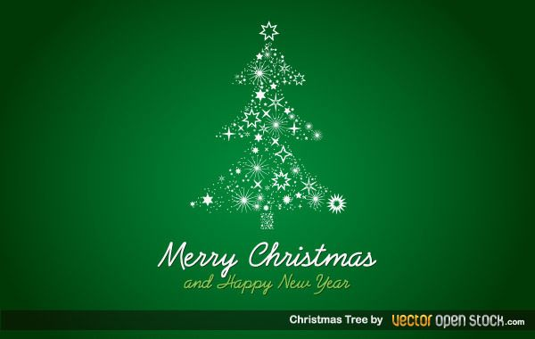 Starry Christmas Tree Background