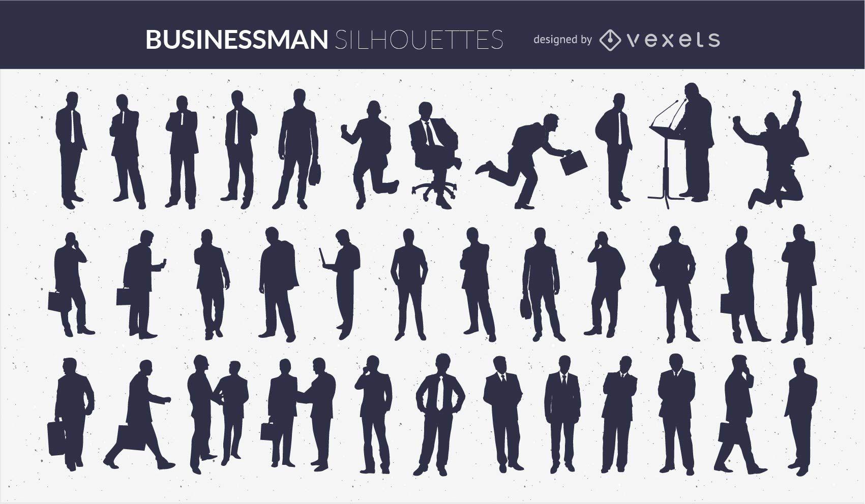 Silueta de hombre de negocios