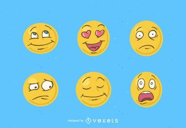 Pacote de Smiley de vetor