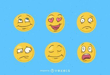 Paquete de smiley vector