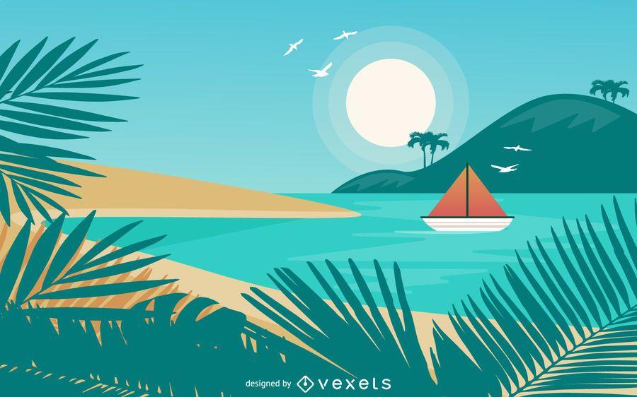 Design tropical de verão