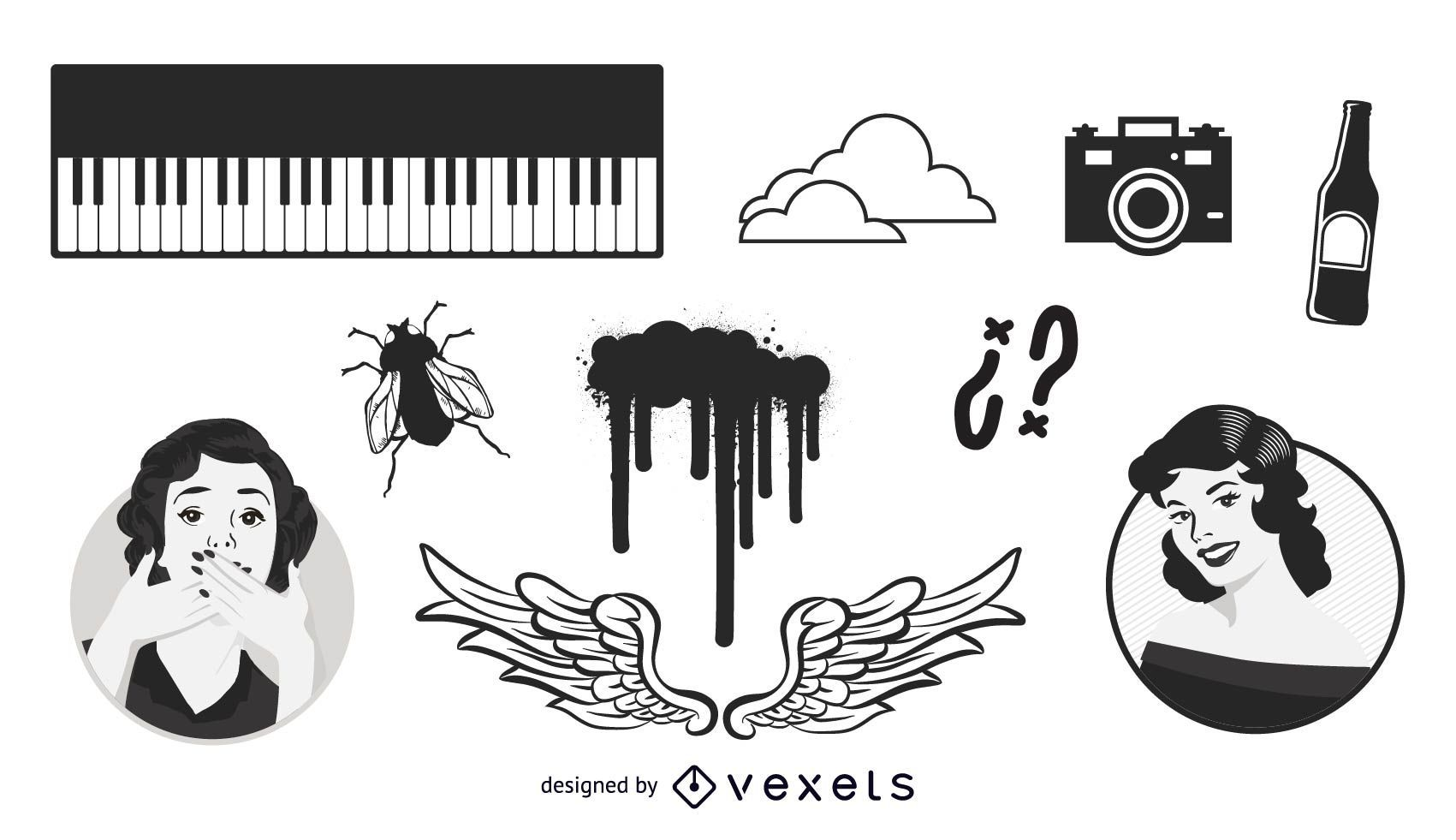 Various elements vector pack