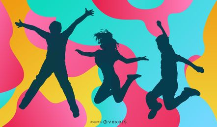Colorful Party Silhouettes