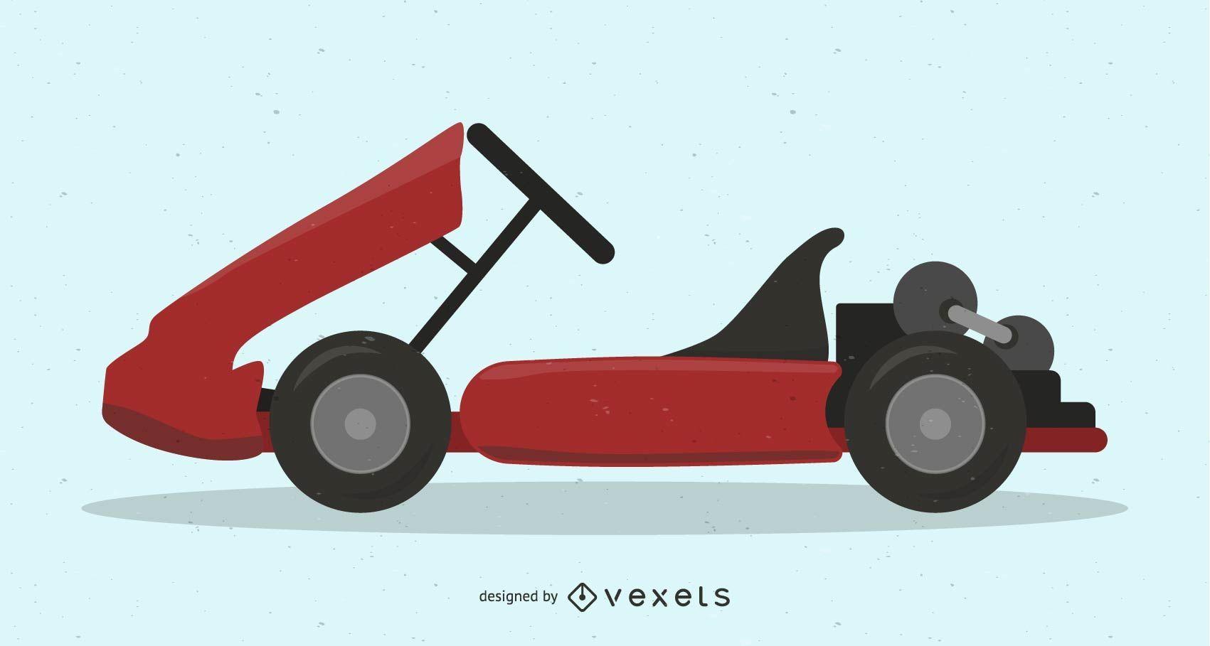 Vector de karting