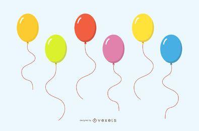 Vectores de globos de cumpleaños