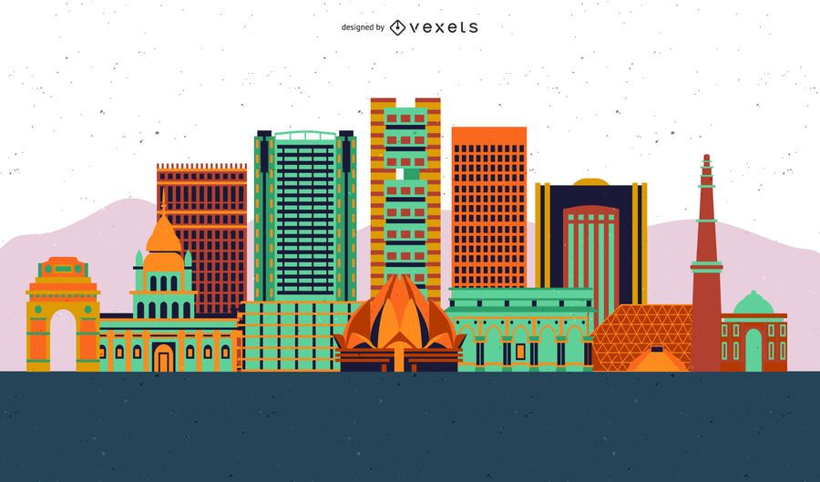 City Building Vector Design