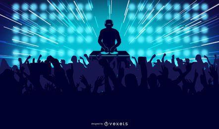 Ilustração de festa dançante