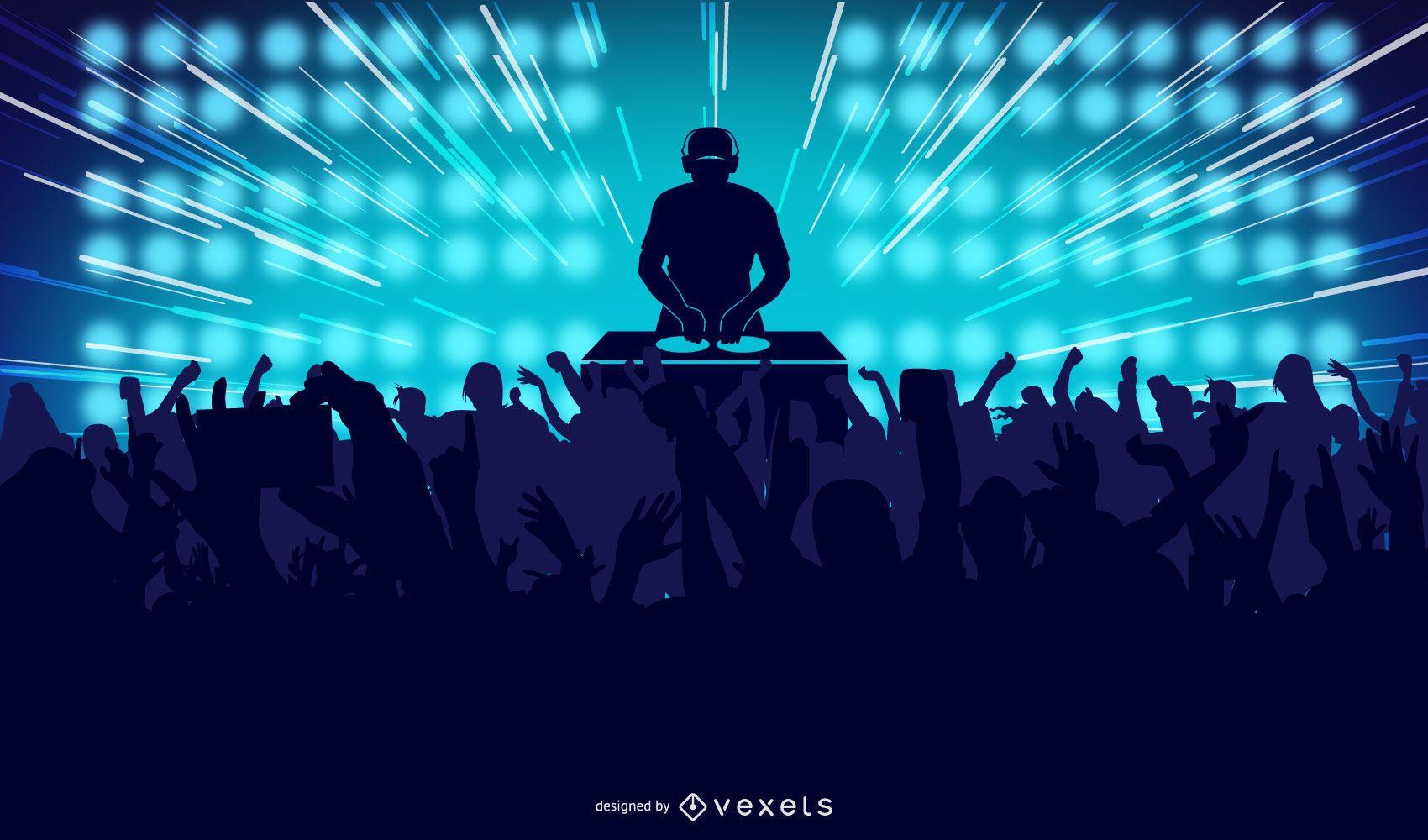 Ilustración de fiesta de baile