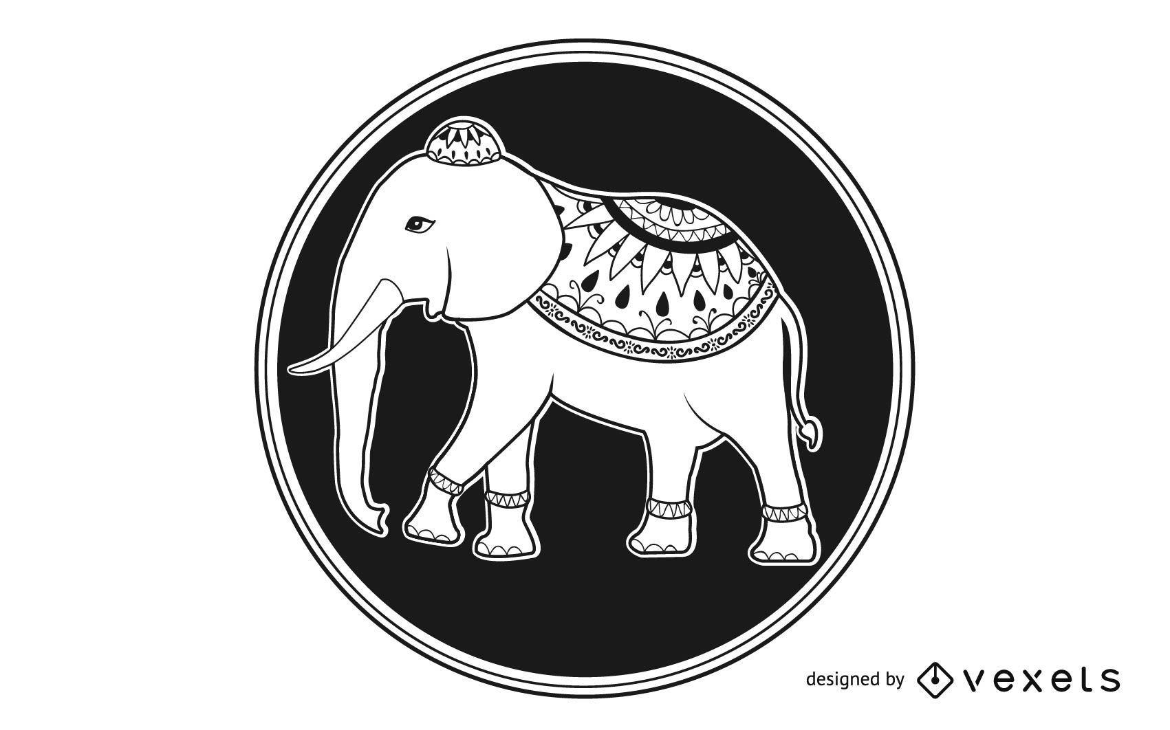 elefantenmandala  vektor download