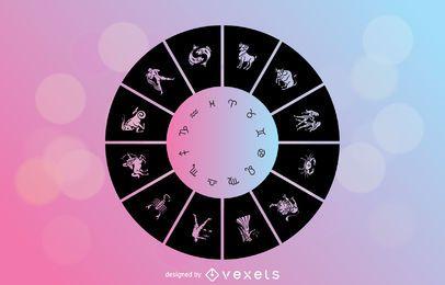 Vector de signos del horóscopo
