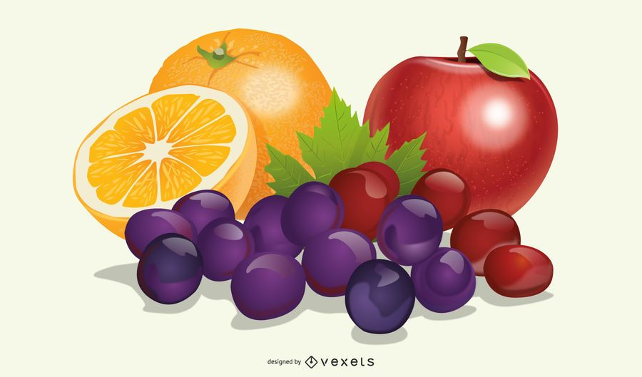 Realistic Fruit Set