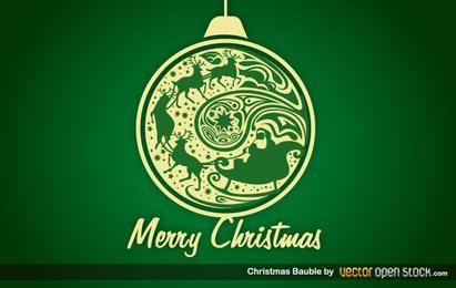 Adorno de burbuja de navidad