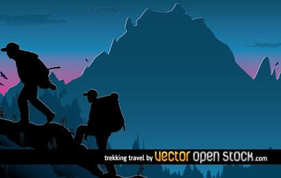 Trekking Travel illustration design