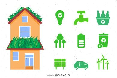 Casa de ecologia definir vetor
