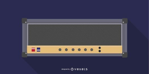 Vetor de amplificador de guitarra JCM 800