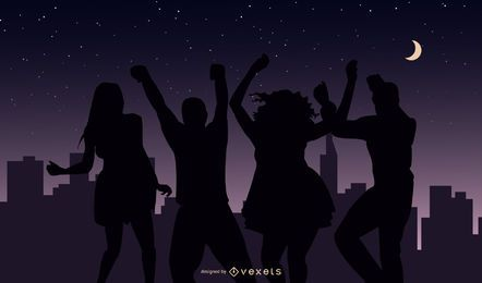 party nightlife vector
