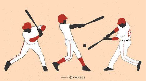 Altzeit-Baseball-Vektoren