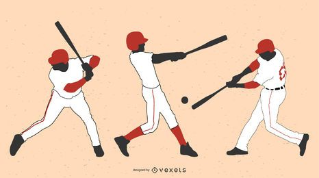 Vectores de béisbol Olde-Time