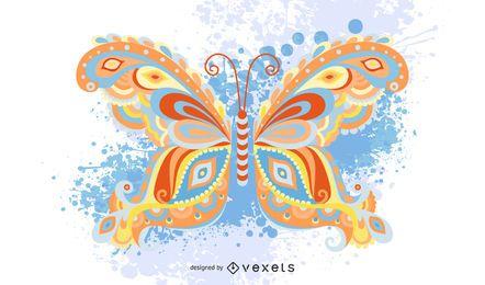 Gráfico de mariposa multicolor