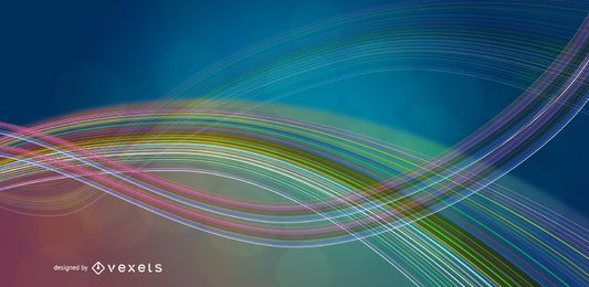 Abstract Colorful Waves and Lines Vector Background