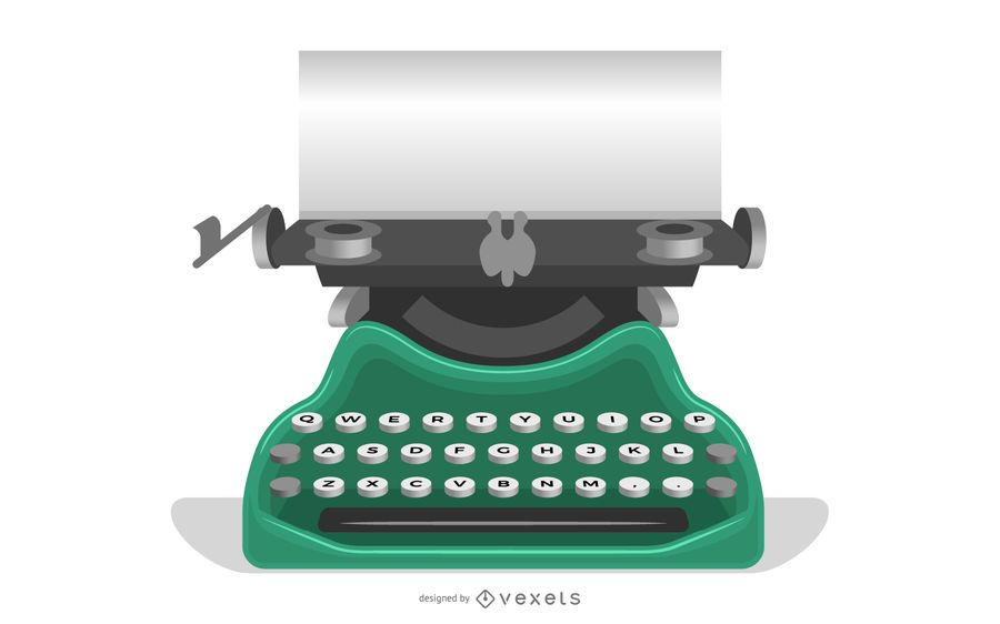 Old typewriter with a paper