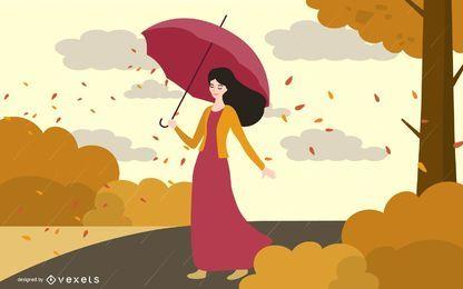 Mulher do outono