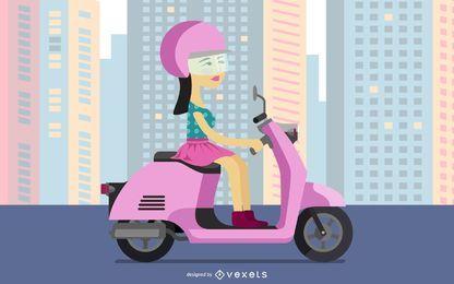 Scooter posh chica
