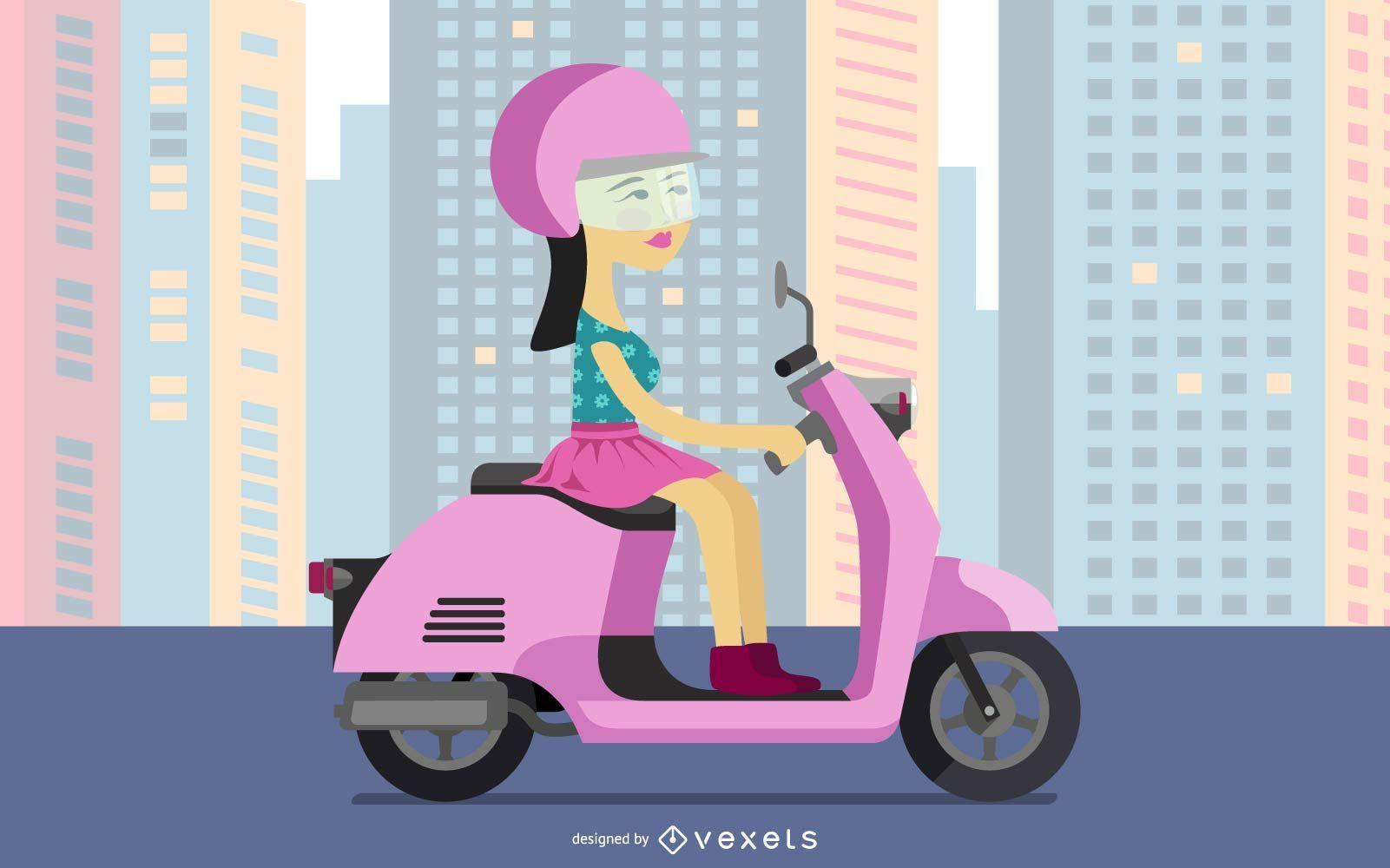 Scooter posh girl