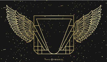Banner de ouro-preto com asas