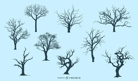 7 Baum-Silhouetten