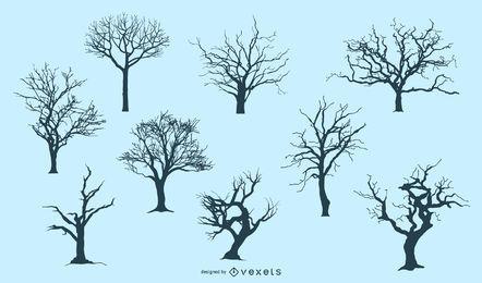 7 siluetas de arboles