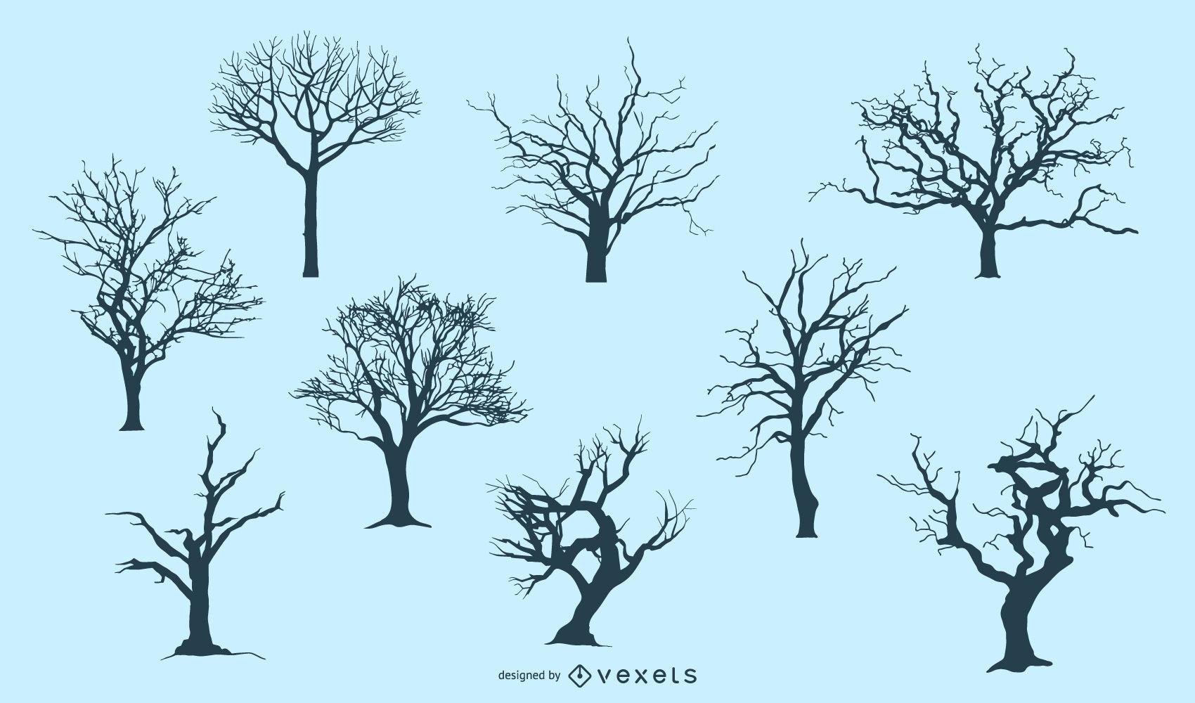 7 Tree Silhouettes