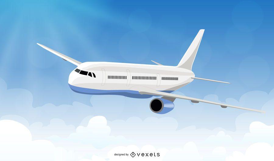 Aeronave de ala en el cielo