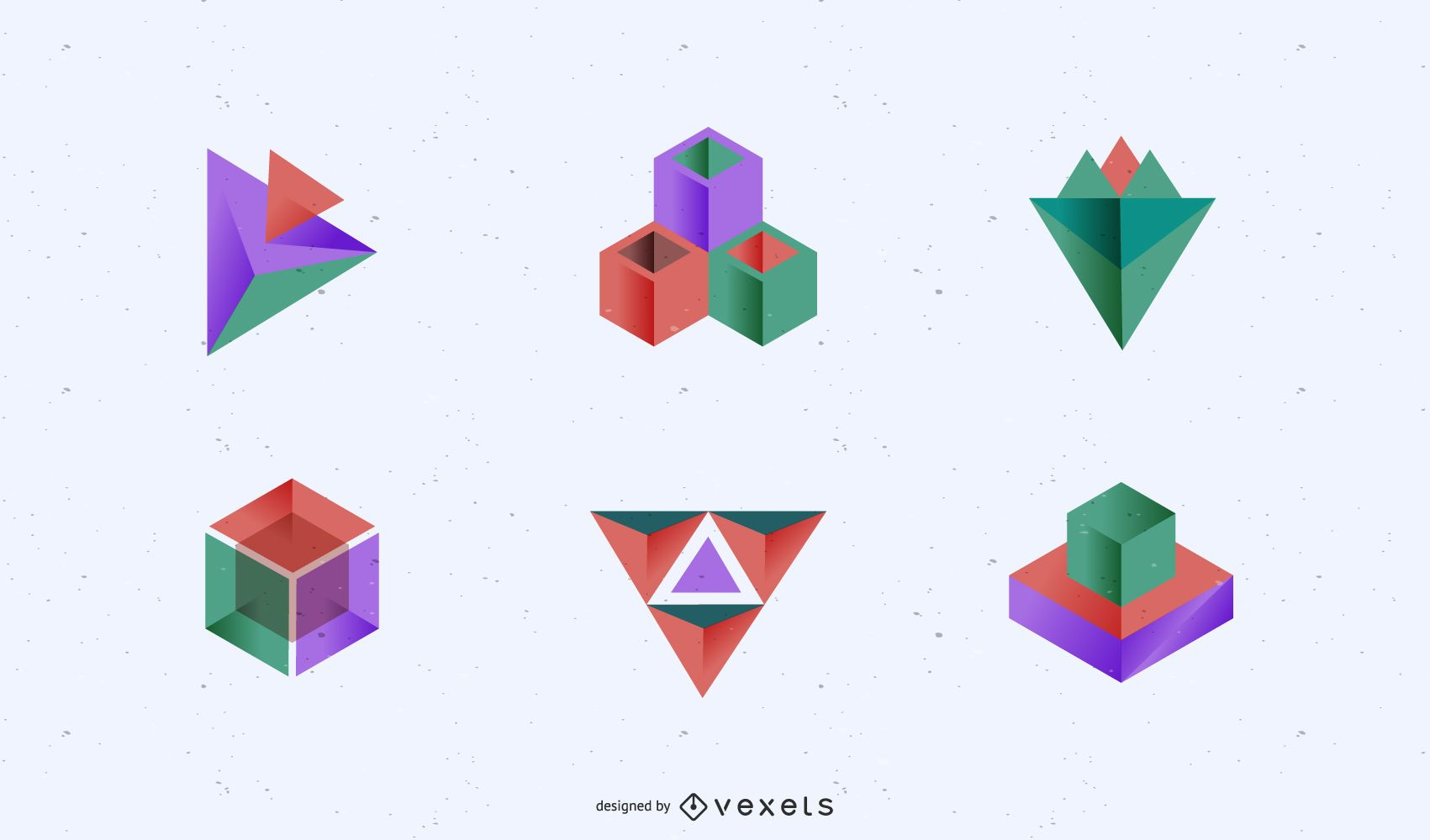 3d Abstract Shapes Graphics Vector Download