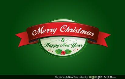 Rótulo de Natal e Ano Novo