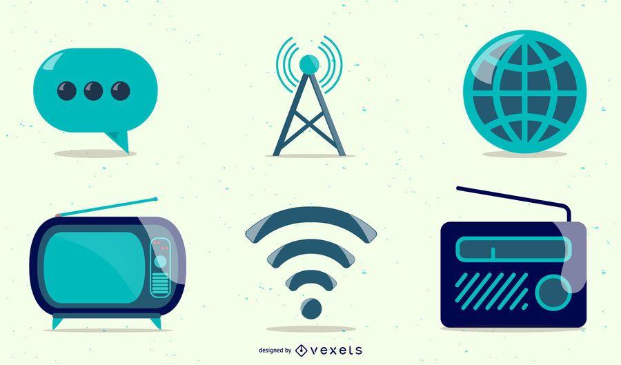 Gráficos vectoriales de estilo de icono brillante