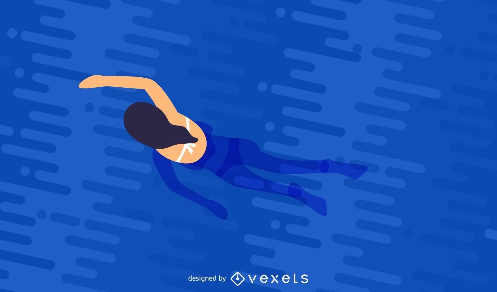 Mujer nadando