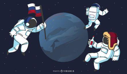 Astronautas russos